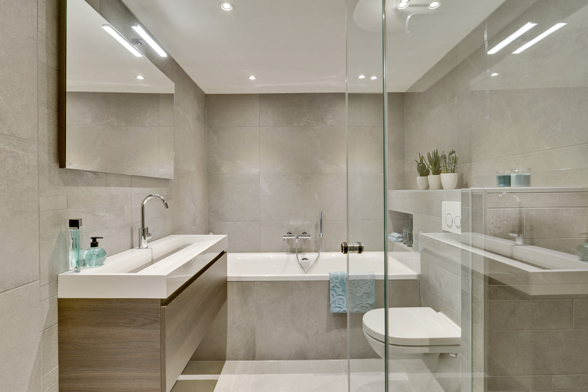 Exclusief Vloertegel Badkamer : Complete badkamer d